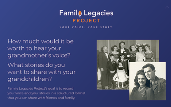 Family Legacies Project One Pager